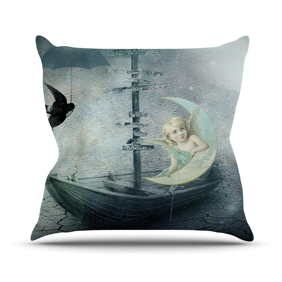 "Suzanne Carter ""Rain"" Throw Pillow - KESS InHouse  - 1"