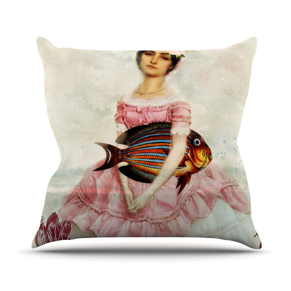 "Suzanne Carter ""The Gardener"" Outdoor Throw Pillow - KESS InHouse  - 1"