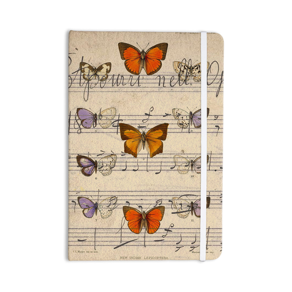 "Suzanne Carter ""Butterfly Opera"" Music Tan Everything Notebook - KESS InHouse  - 1"