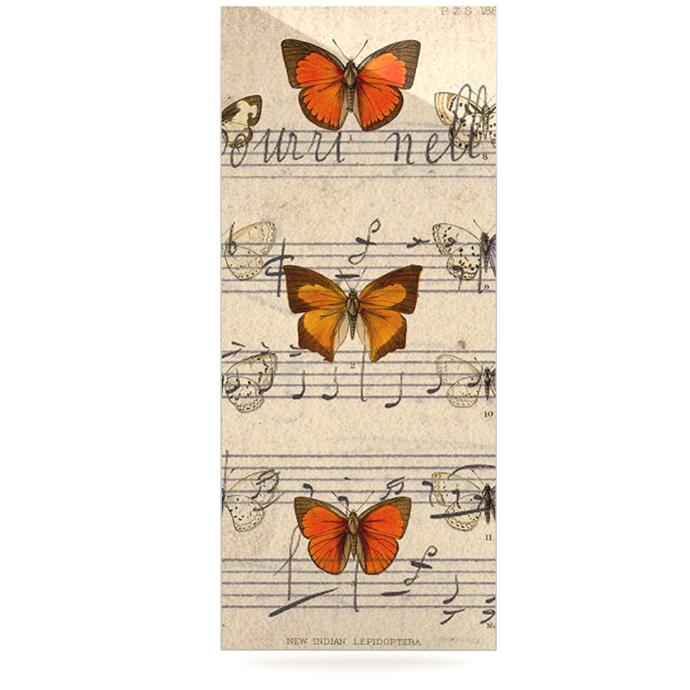 "Suzanne Carter ""Butterfly Opera"" Music Tan Luxe Rectangle Panel - KESS InHouse  - 1"