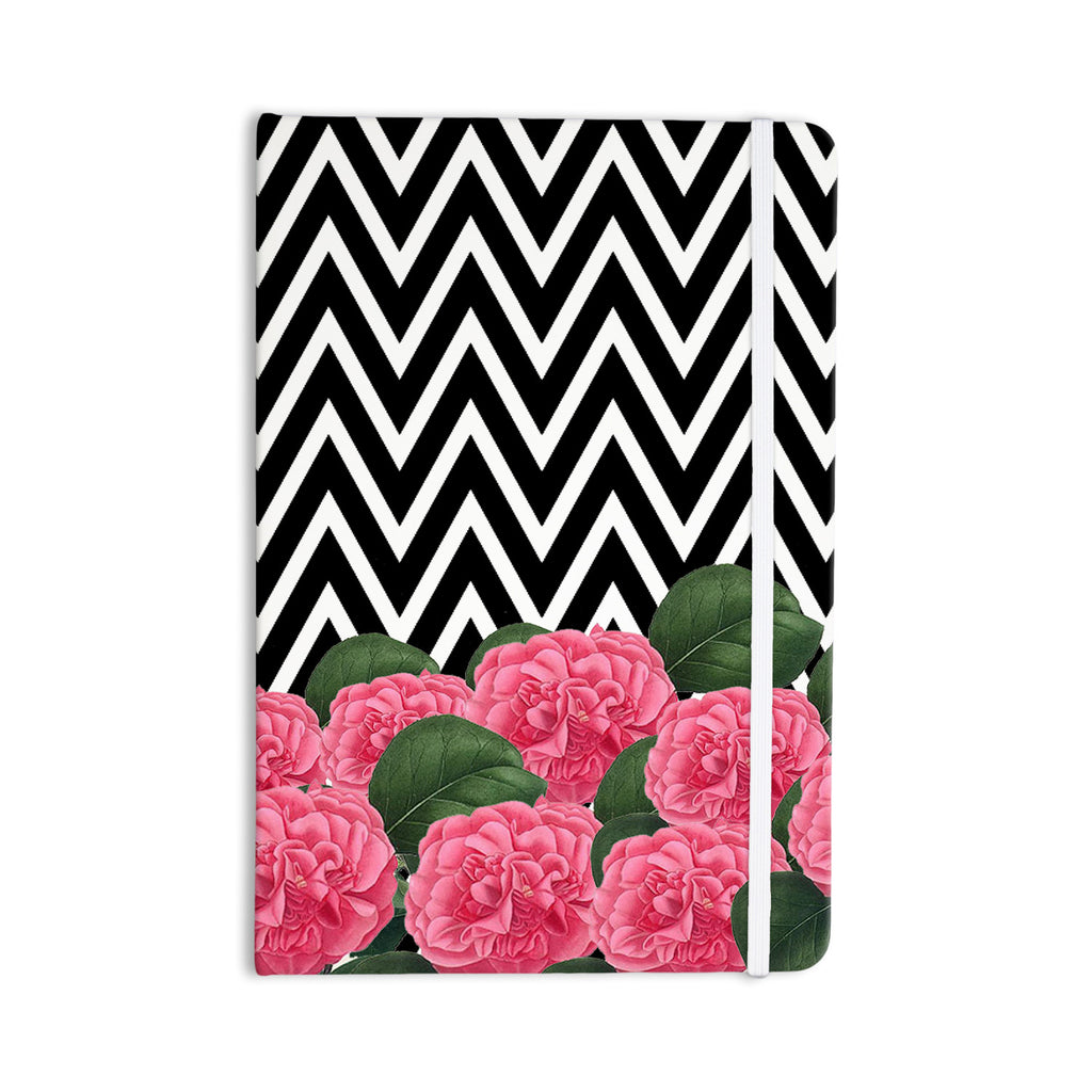 "Suzanne Carter ""Camellia"" Chevron Flower Everything Notebook - KESS InHouse  - 1"