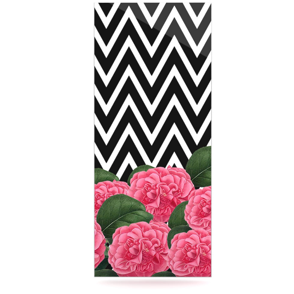 "Suzanne Carter ""Camellia"" Chevron Flower Luxe Rectangle Panel - KESS InHouse  - 1"