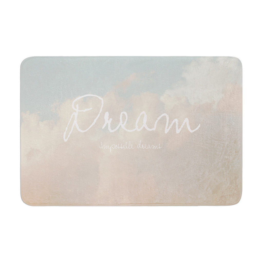 "Suzanne Carter ""Dream"" Quote Clouds Memory Foam Bath Mat - KESS InHouse"