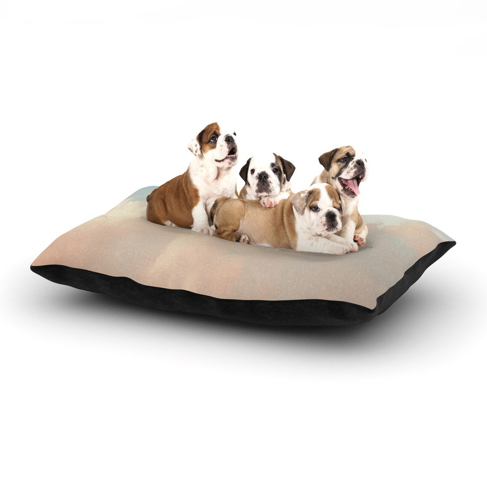 "Suzanne Carter ""Dream"" Quote Clouds Dog Bed - KESS InHouse  - 1"