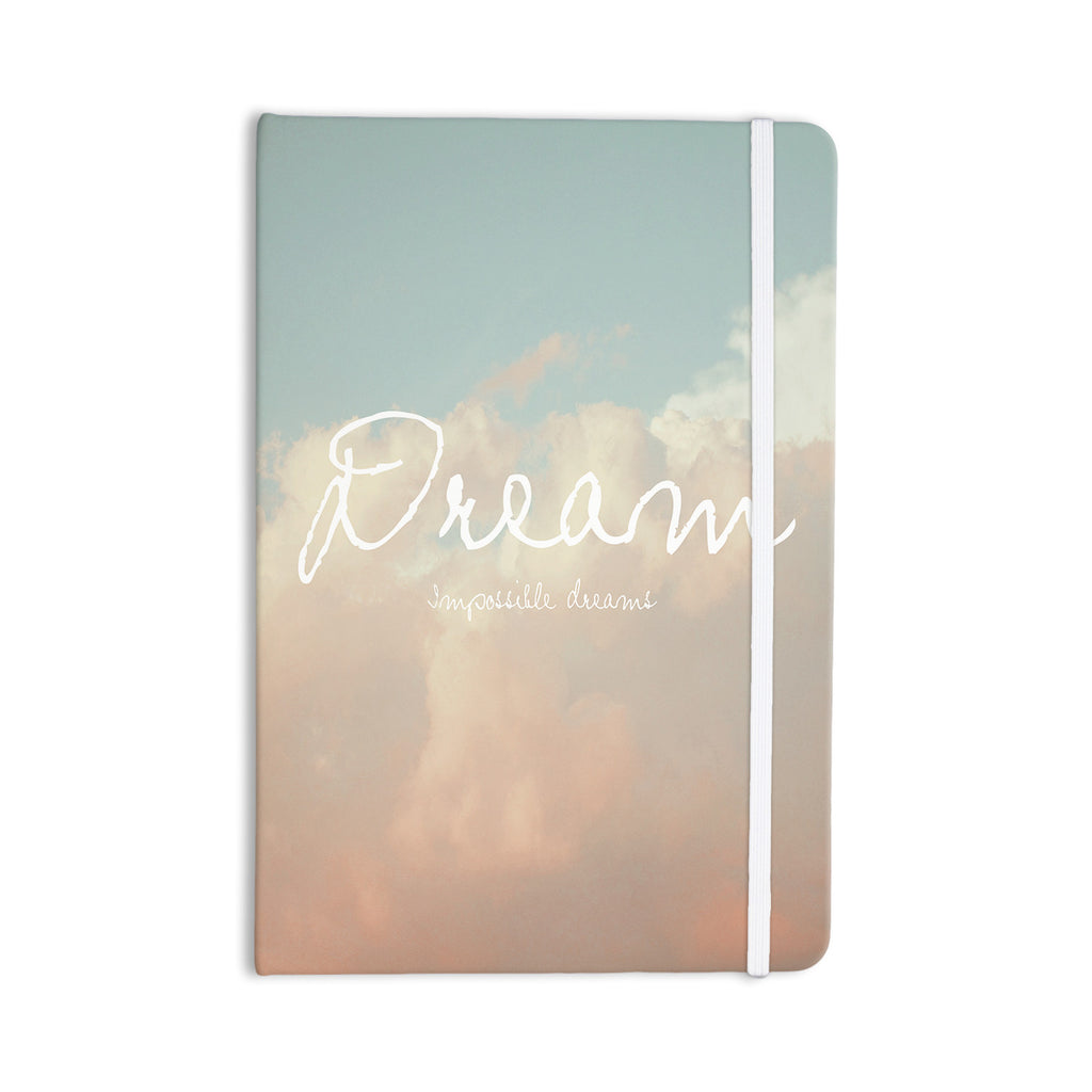 "Suzanne Carter ""Dream"" Quote Clouds Everything Notebook - KESS InHouse  - 1"
