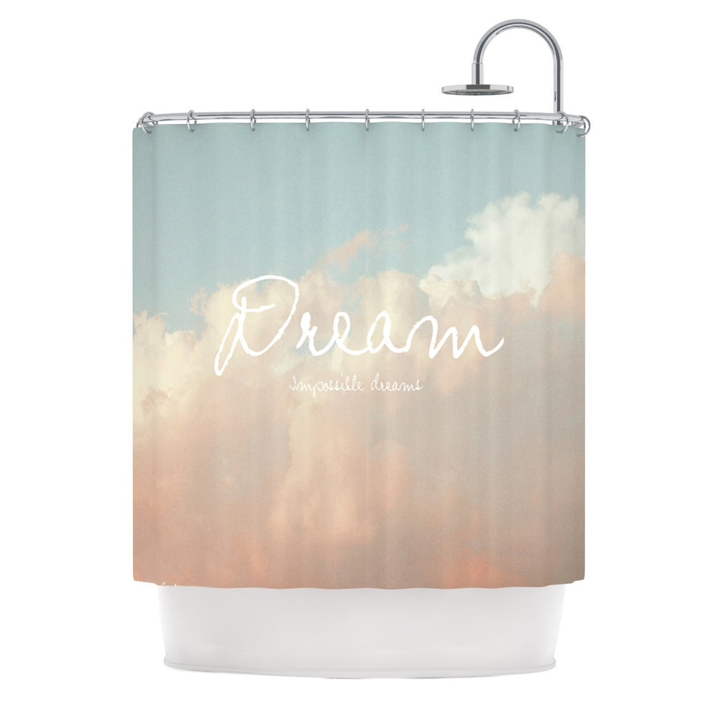 "Suzanne Carter ""Dream"" Quote Clouds Shower Curtain - KESS InHouse"