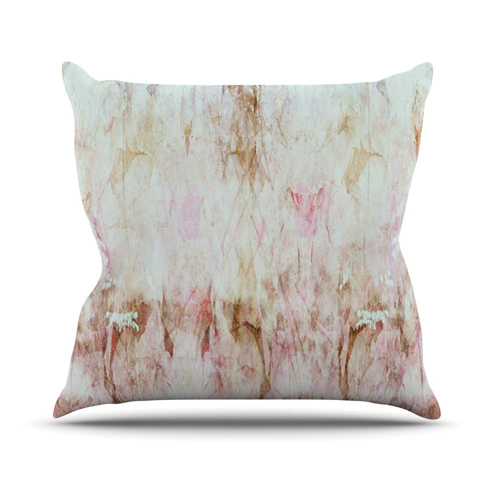 "Suzanne Carter ""Florian"" Pink Outdoor Throw Pillow - KESS InHouse  - 1"