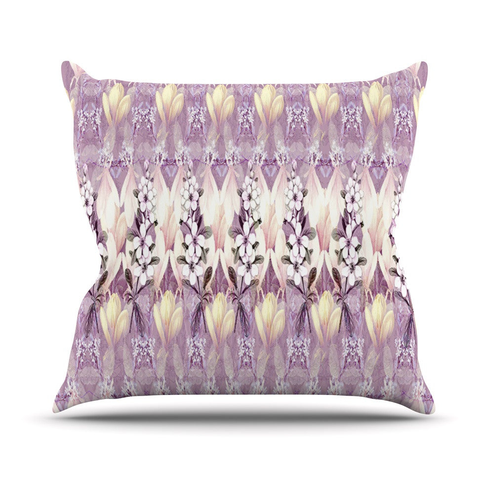 "Suzanne Carter ""Laurel85"" Pink Purple Throw Pillow - KESS InHouse  - 1"