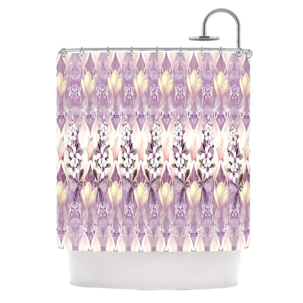 "Suzanne Carter ""Laurel85"" Pink Purple Shower Curtain - KESS InHouse"