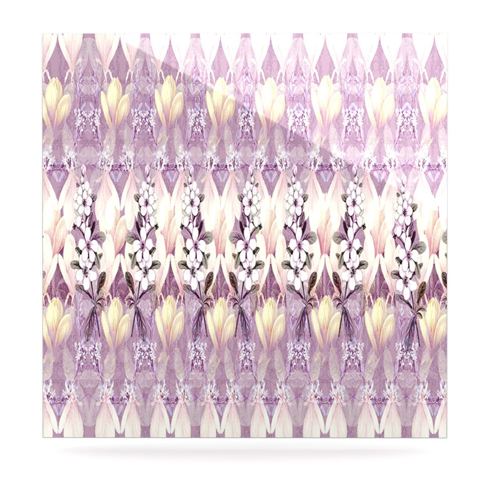 "Suzanne Carter ""Laurel85"" Pink Purple Luxe Square Panel - KESS InHouse  - 1"