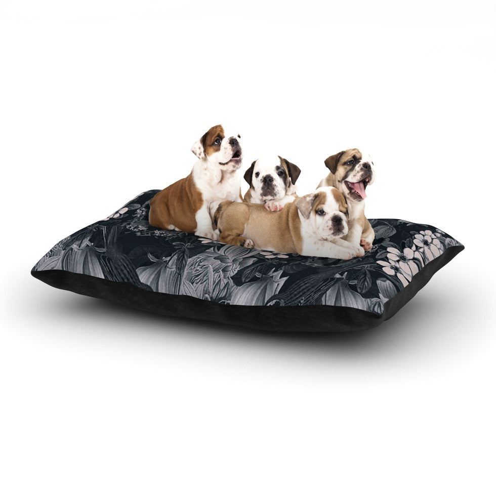 "Suzanne Carter ""Magnolia Cushion"" Gray Dog Bed - KESS InHouse  - 1"