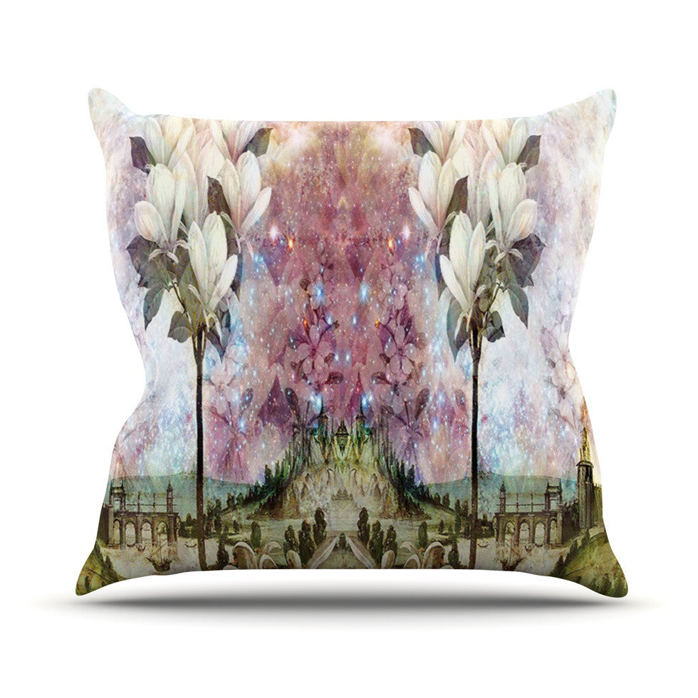 "Suzanne Carter ""The Magnolia Trees"" Outdoor Throw Pillow - KESS InHouse  - 1"