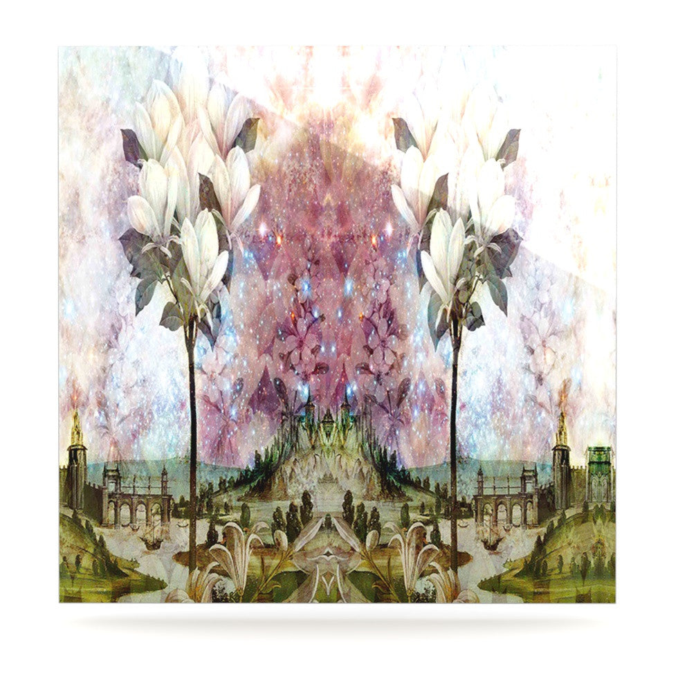 "Suzanne Carter ""The Magnolia Trees"" Luxe Square Panel - KESS InHouse  - 1"