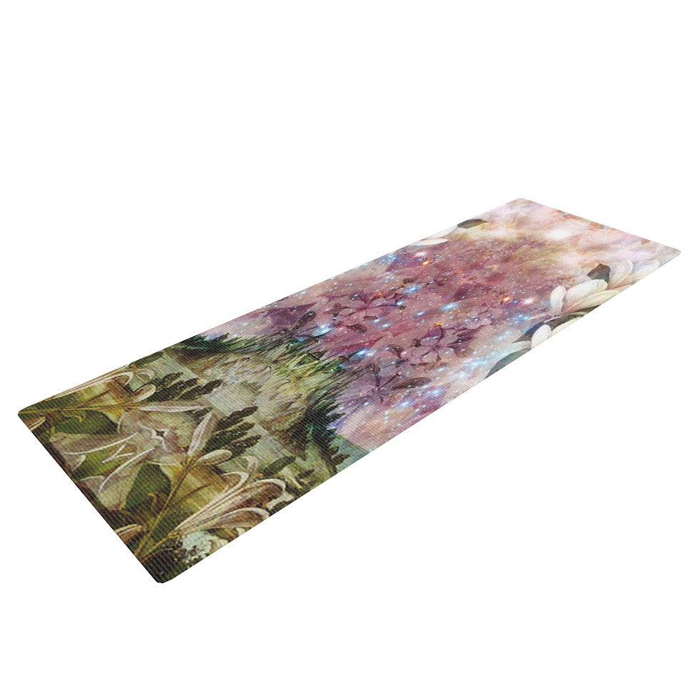 "Suzanne Carter ""The Magnolia Trees"" Yoga Mat - KESS InHouse  - 1"