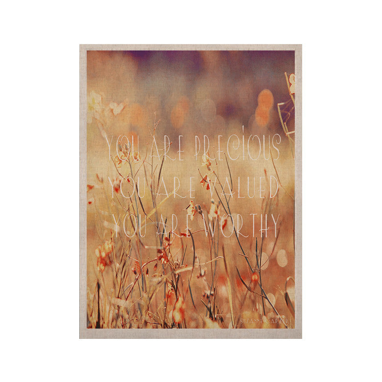 "Suzanne Carter ""You are Precious"" Quote KESS Naturals Canvas (Frame not Included) - KESS InHouse  - 1"