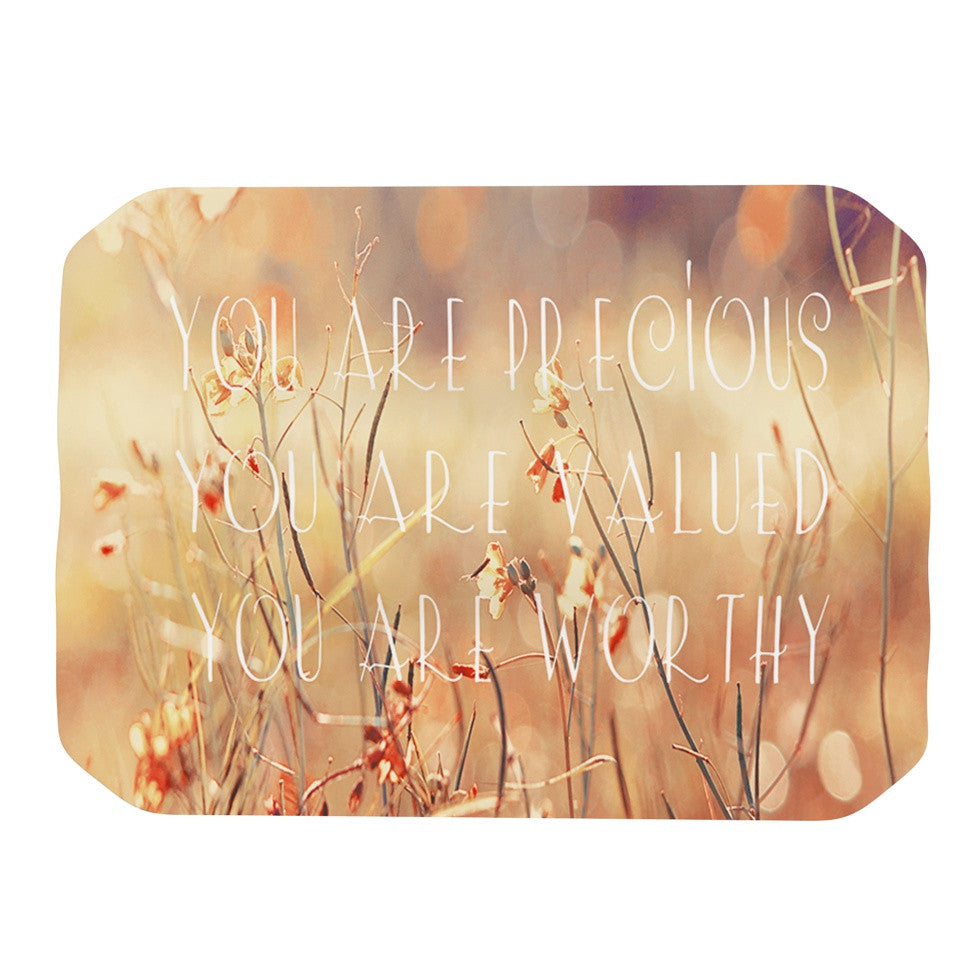 "Suzanne Carter ""You are Precious"" Quote Place Mat - KESS InHouse"
