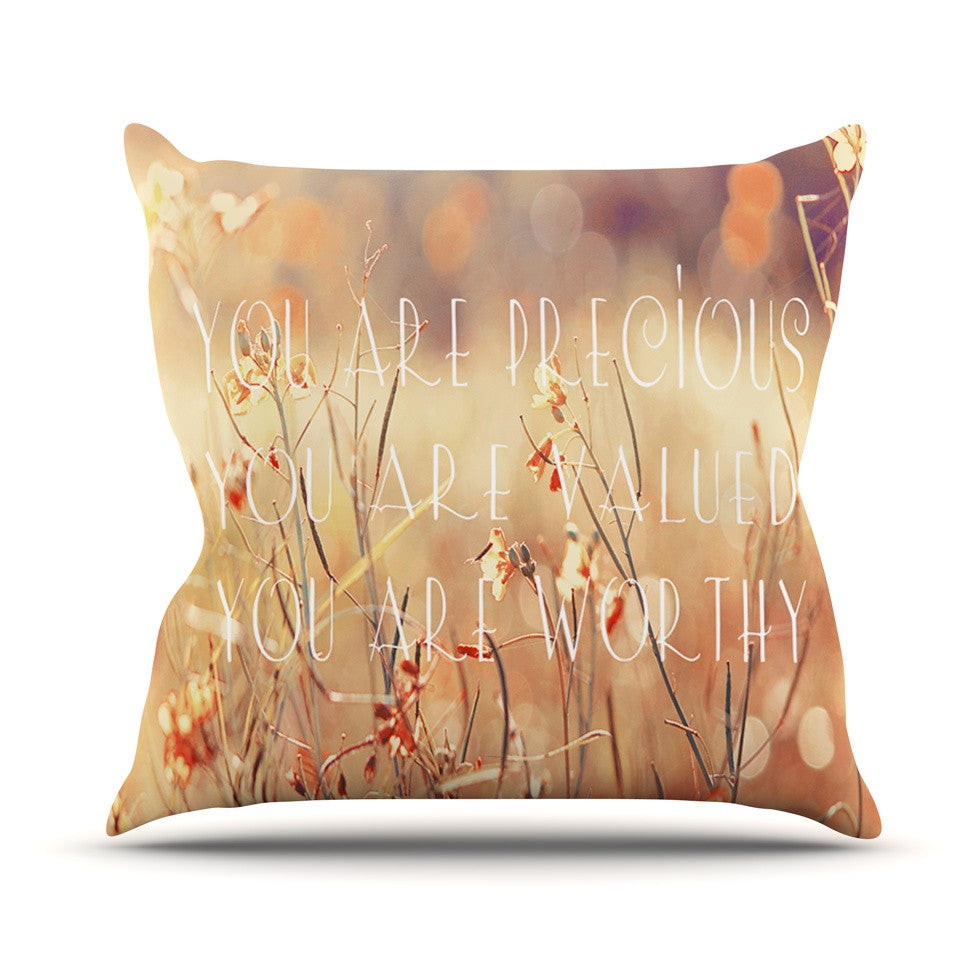 "Suzanne Carter ""You are Precious"" Quote Throw Pillow - KESS InHouse  - 1"