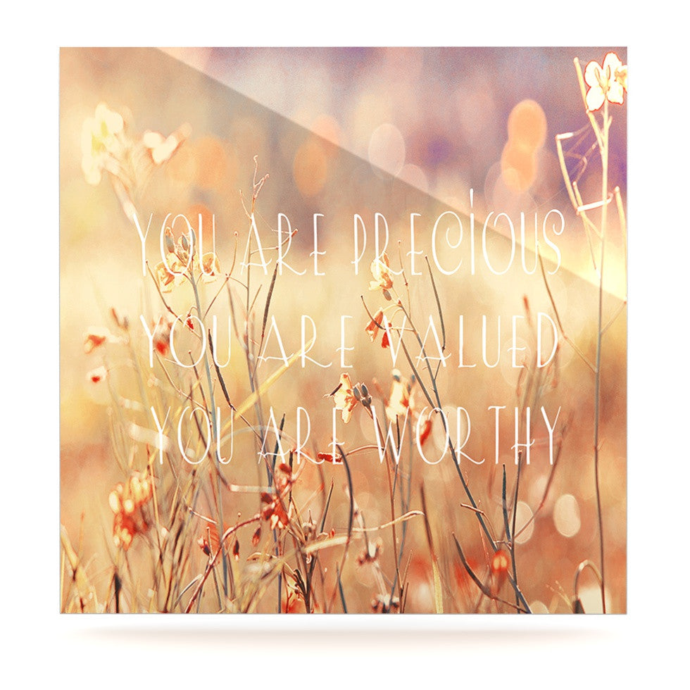 "Suzanne Carter ""You are Precious"" Quote Luxe Square Panel - KESS InHouse  - 1"