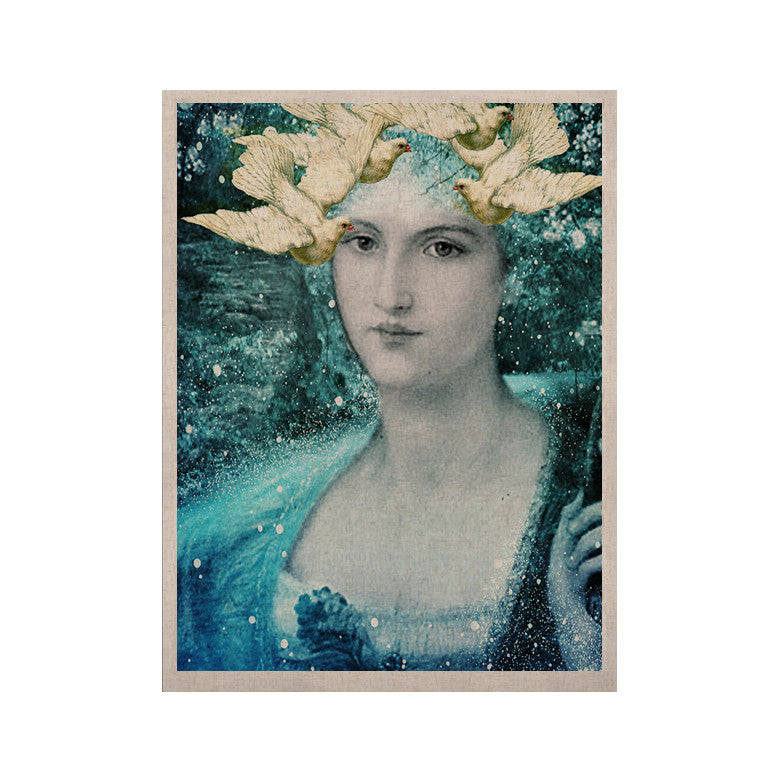 "Suzanne Carter ""Adorned"" Blue KESS Naturals Canvas (Frame not Included) - KESS InHouse  - 1"