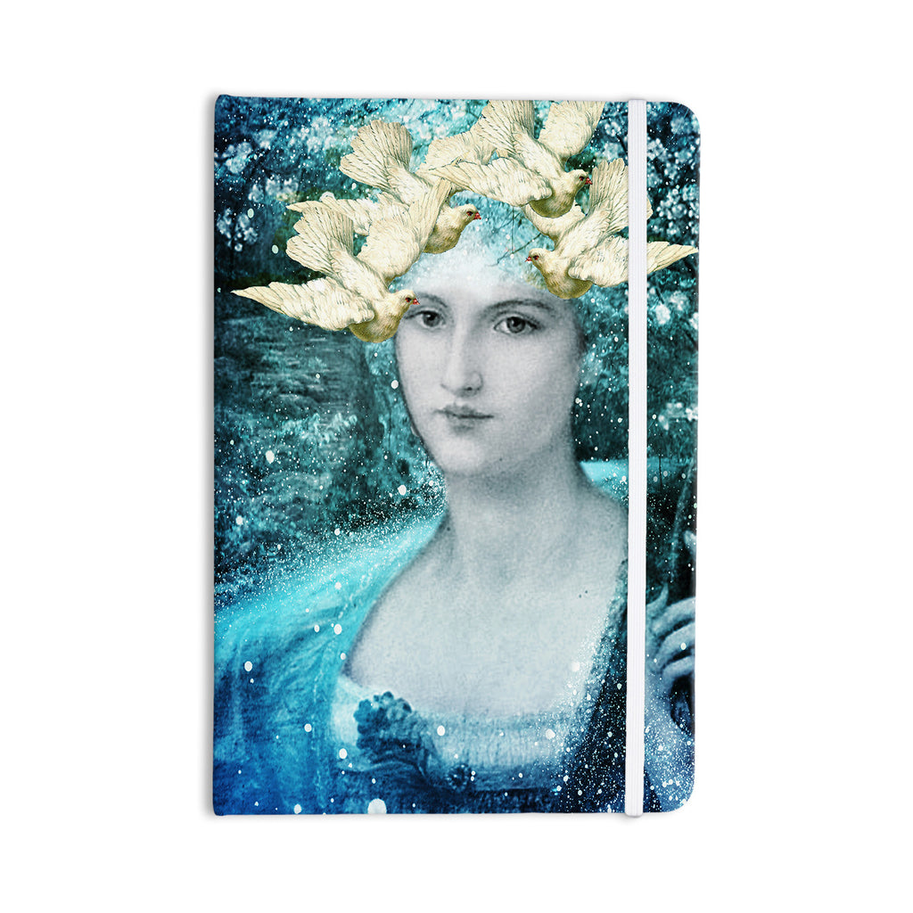 "Suzanne Carter ""Adorned"" Blue Everything Notebook - KESS InHouse  - 1"