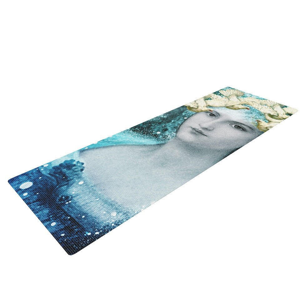 "Suzanne Carter ""Adorned"" Blue Yoga Mat - KESS InHouse  - 1"