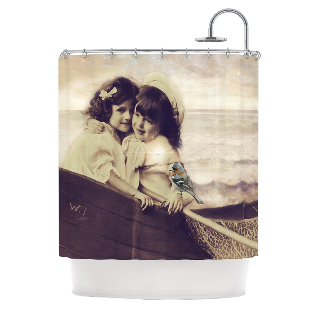 "Suzanne Carter ""Journey"" Tan Shower Curtain - KESS InHouse"