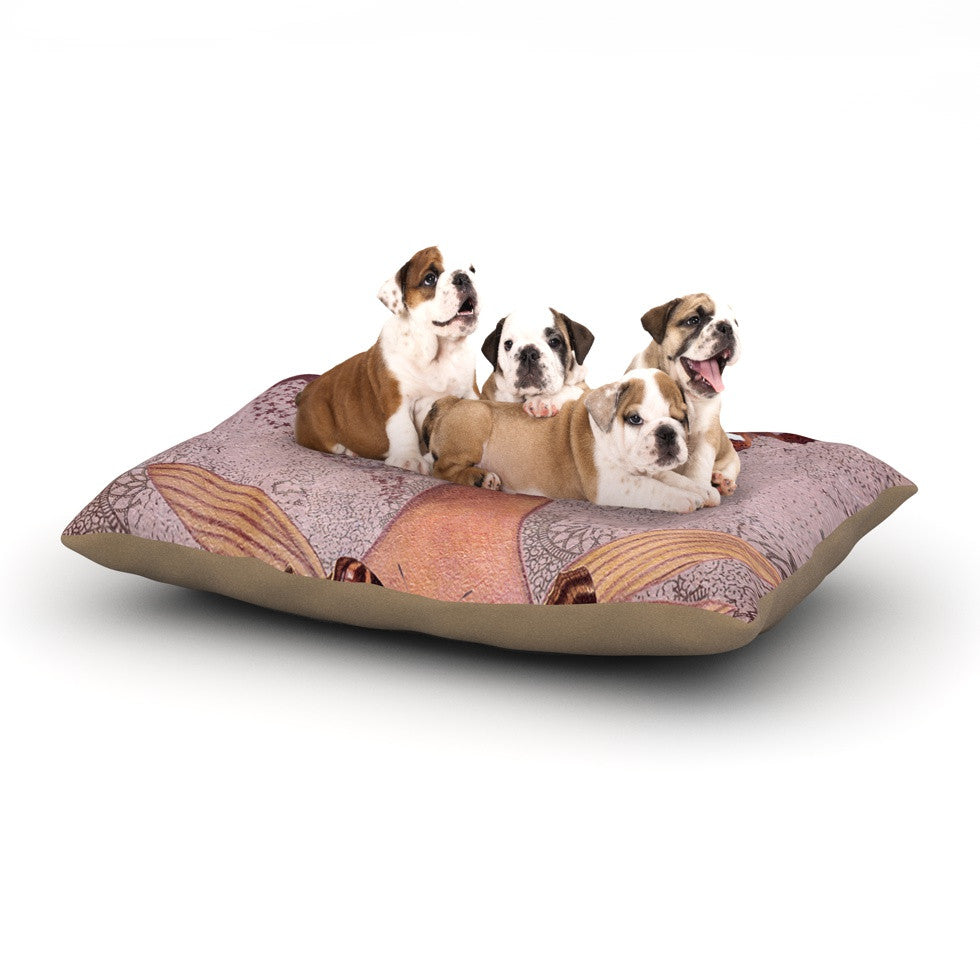 "Suzanne Carter ""Prudence"" Pink Portrait Dog Bed - KESS InHouse  - 1"