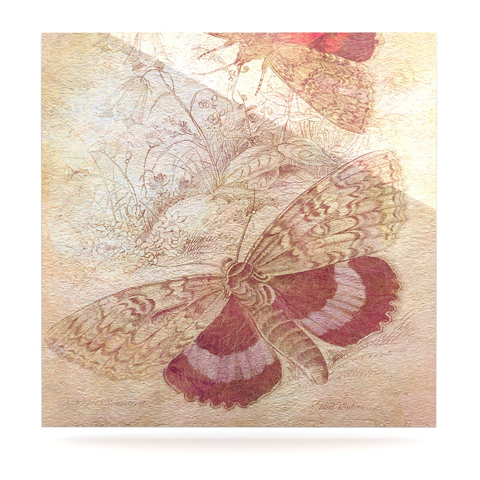 "Suzanne Carter ""Vintage Garden"" Butterfly Moth Luxe Square Panel - KESS InHouse  - 1"