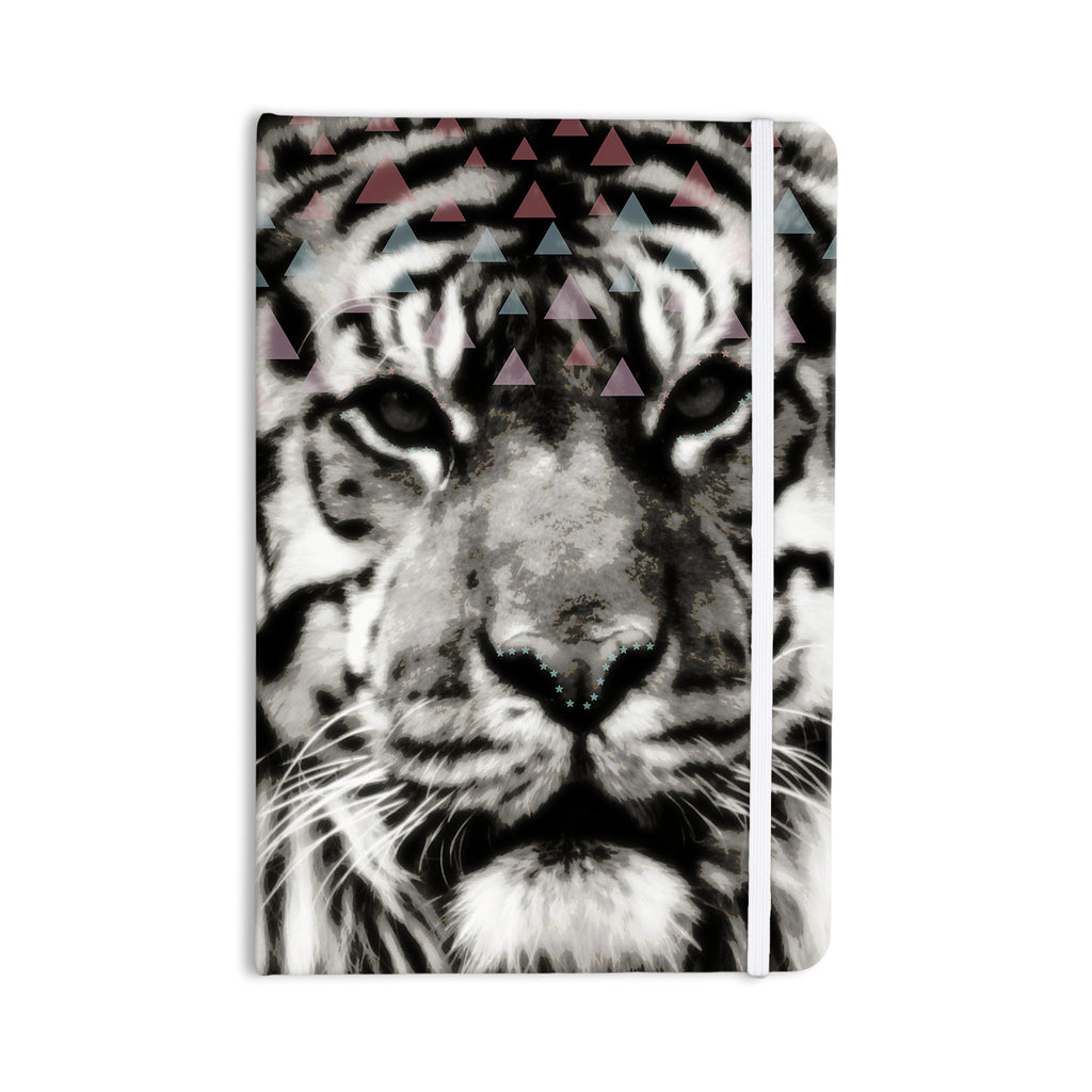 "Suzanne Carter ""Tiger Face"" Gray Animal Everything Notebook - KESS InHouse  - 1"