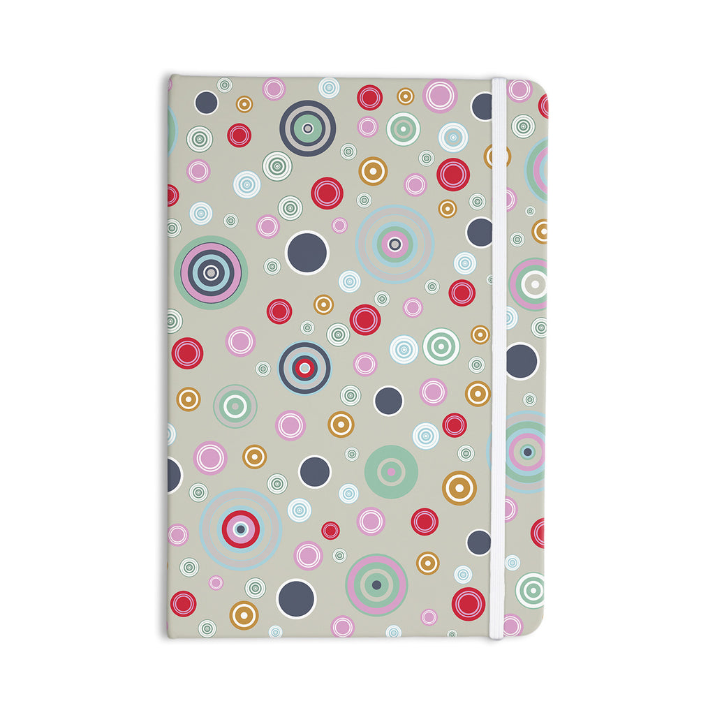 "Suzanne Carter ""Circle Circle I"" Gray Multicolor Everything Notebook - KESS InHouse  - 1"