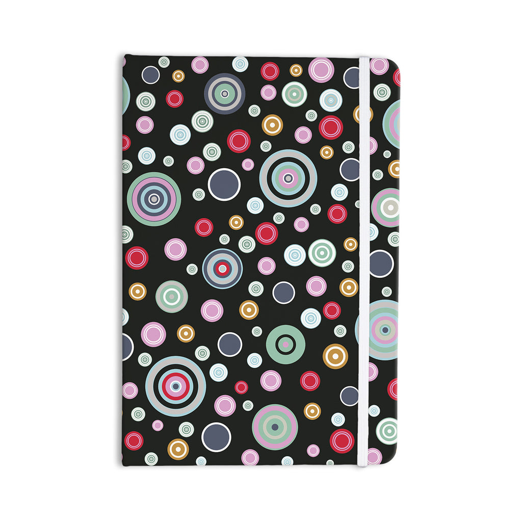 "Suzanne Carter ""Circle Circle II"" Black Multicolor Everything Notebook - KESS InHouse  - 1"