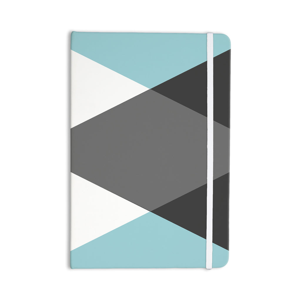 "Suzanne Carter ""Diamonds"" Gray Blue Everything Notebook - KESS InHouse  - 1"