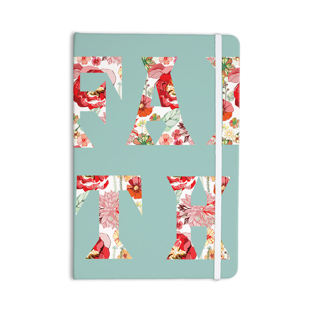 "Suzanne Carter ""FAITH"" Blue Red Everything Notebook - KESS InHouse  - 1"