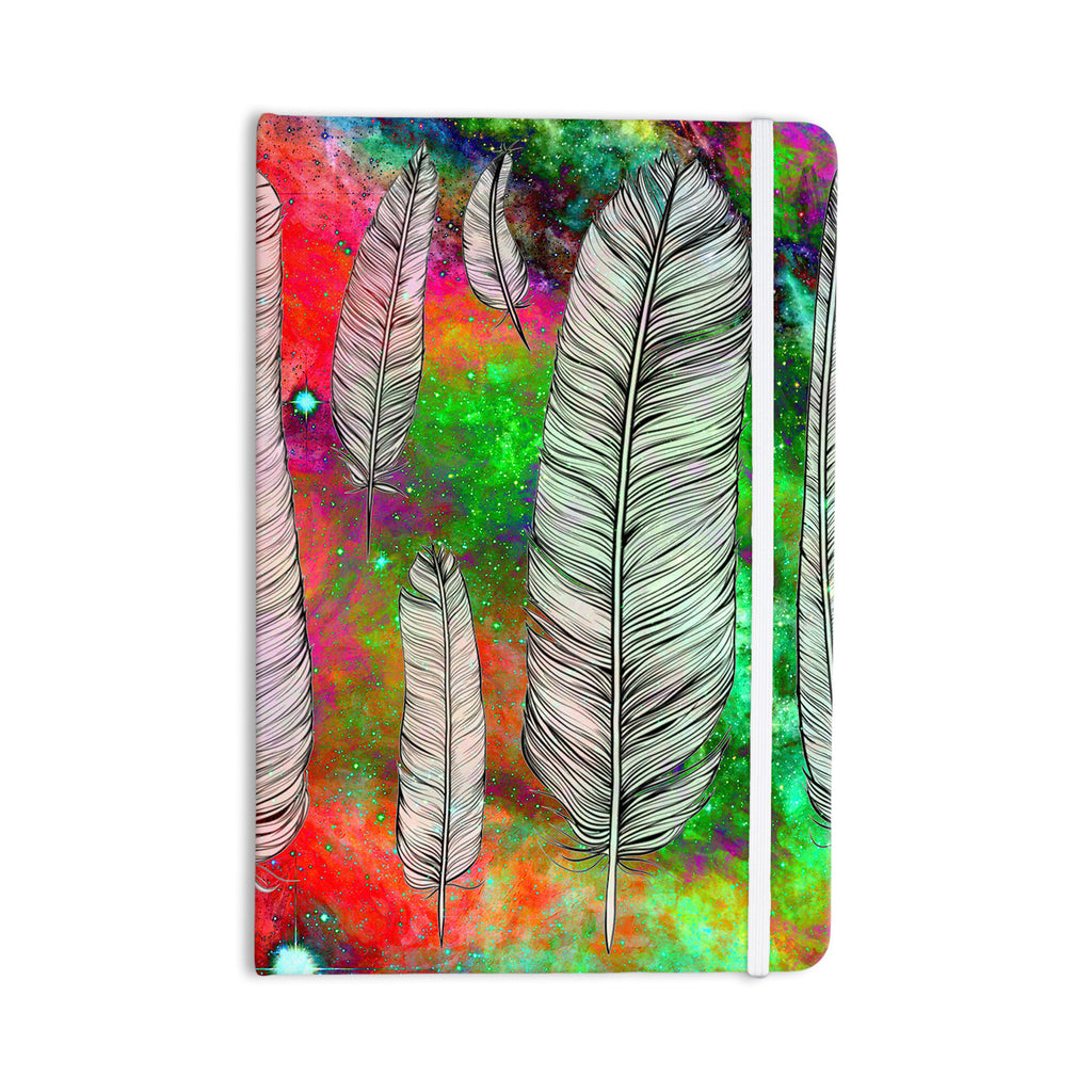 "Suzanne Carter ""Feather"" Rainbow Space Everything Notebook - KESS InHouse  - 1"