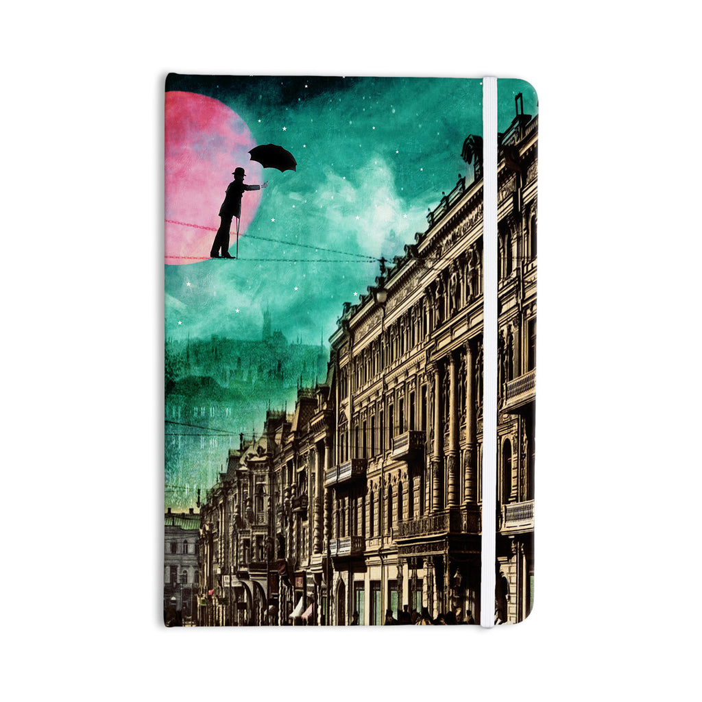 "Suzanne Carter ""Moonlight Stroll"" Surreal Everything Notebook - KESS InHouse  - 1"