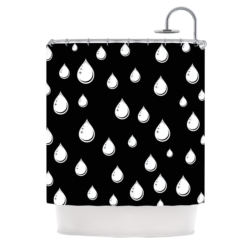 Raindrops Shower Curtain By Suzanne Carter