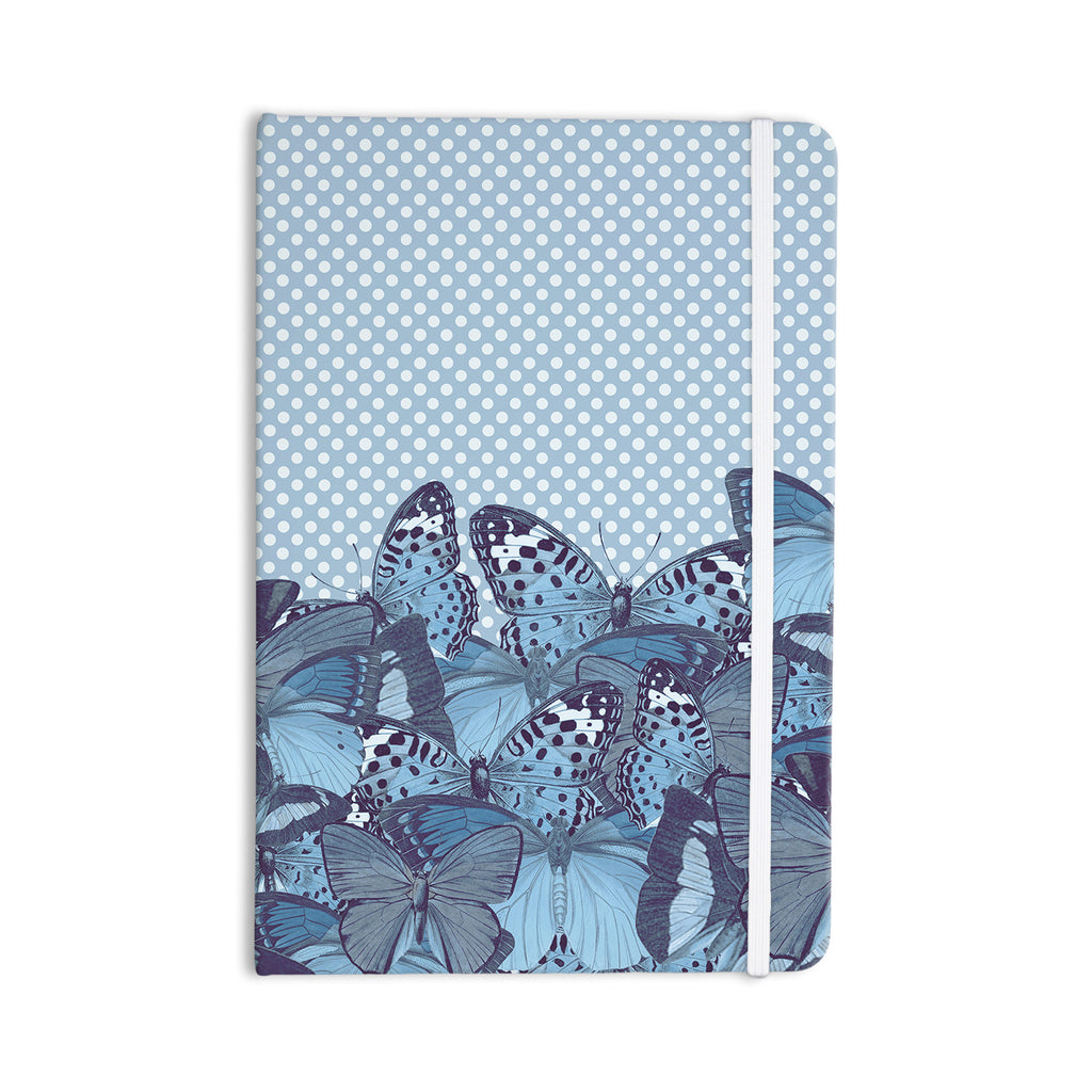 "Suzanne Carter ""Butterfly Blues"" Aqua Everything Notebook - KESS InHouse  - 1"