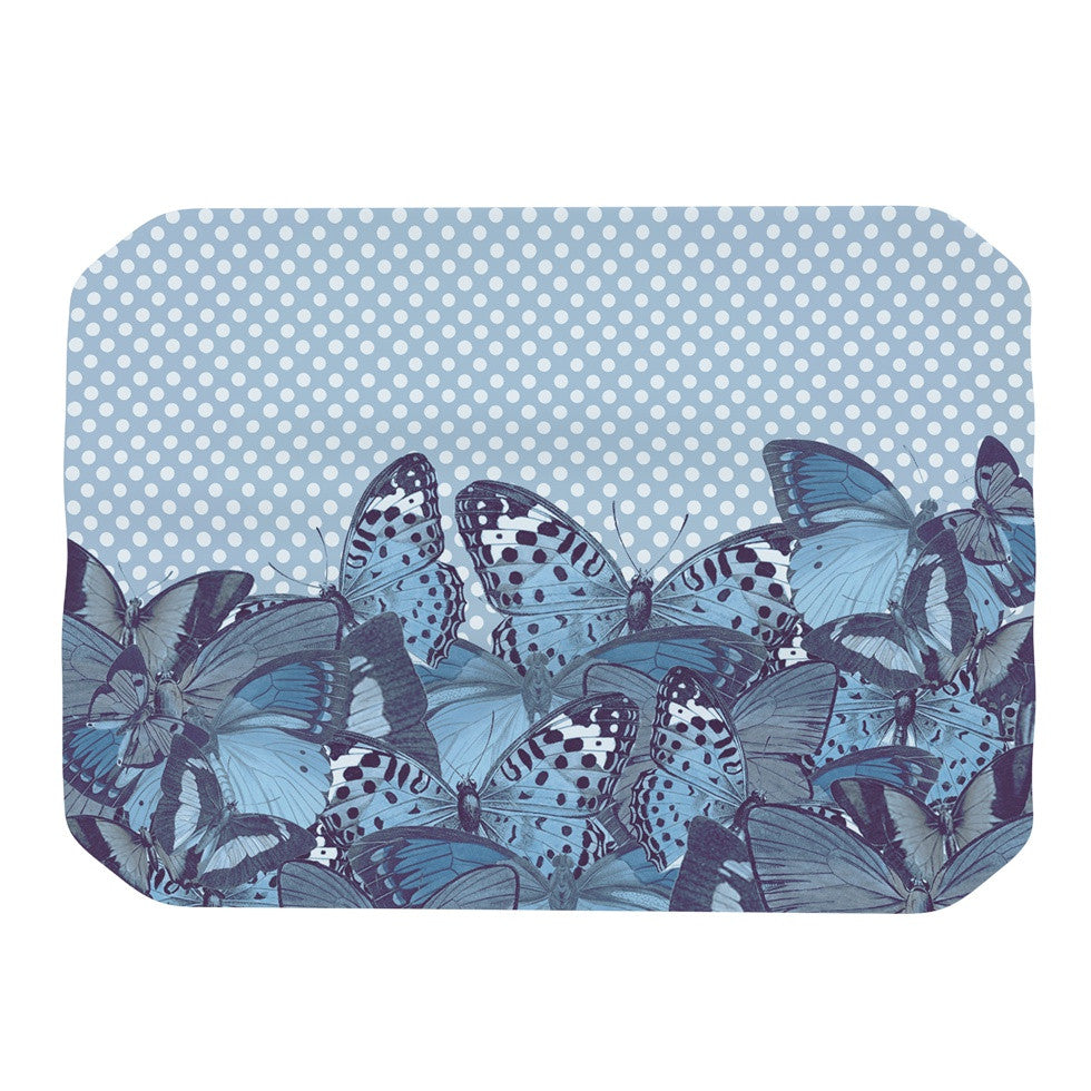"Suzanne Carter ""Butterfly Blues"" Aqua Place Mat - KESS InHouse"