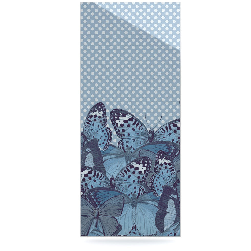 "Suzanne Carter ""Butterfly Blues"" Aqua Luxe Rectangle Panel - KESS InHouse  - 1"