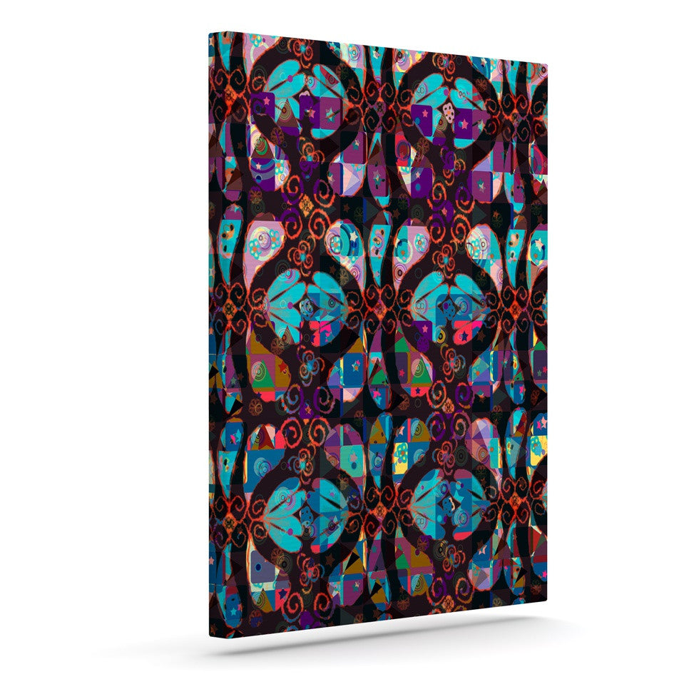 "Suzanne Carter ""Pattern"" Multicolor Abstract Canvas Art - KESS InHouse  - 1"