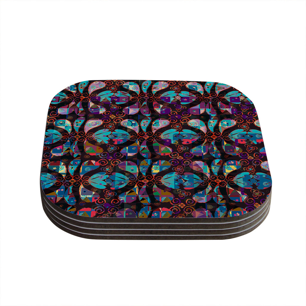 "Suzanne Carter ""Pattern"" Multicolor Abstract Coasters (Set of 4)"