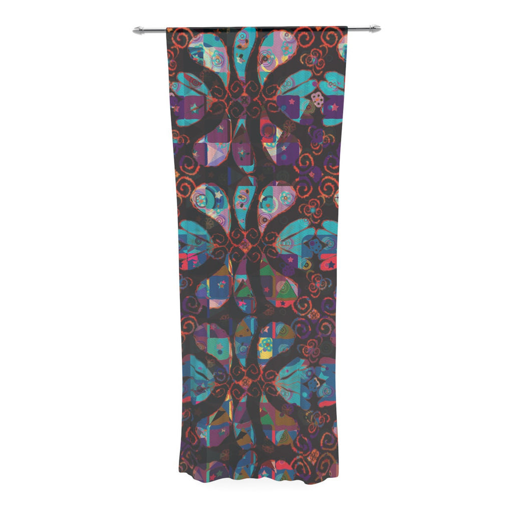 "Suzanne Carter ""Pattern"" Multicolor Abstract Decorative Sheer Curtain - KESS InHouse  - 1"