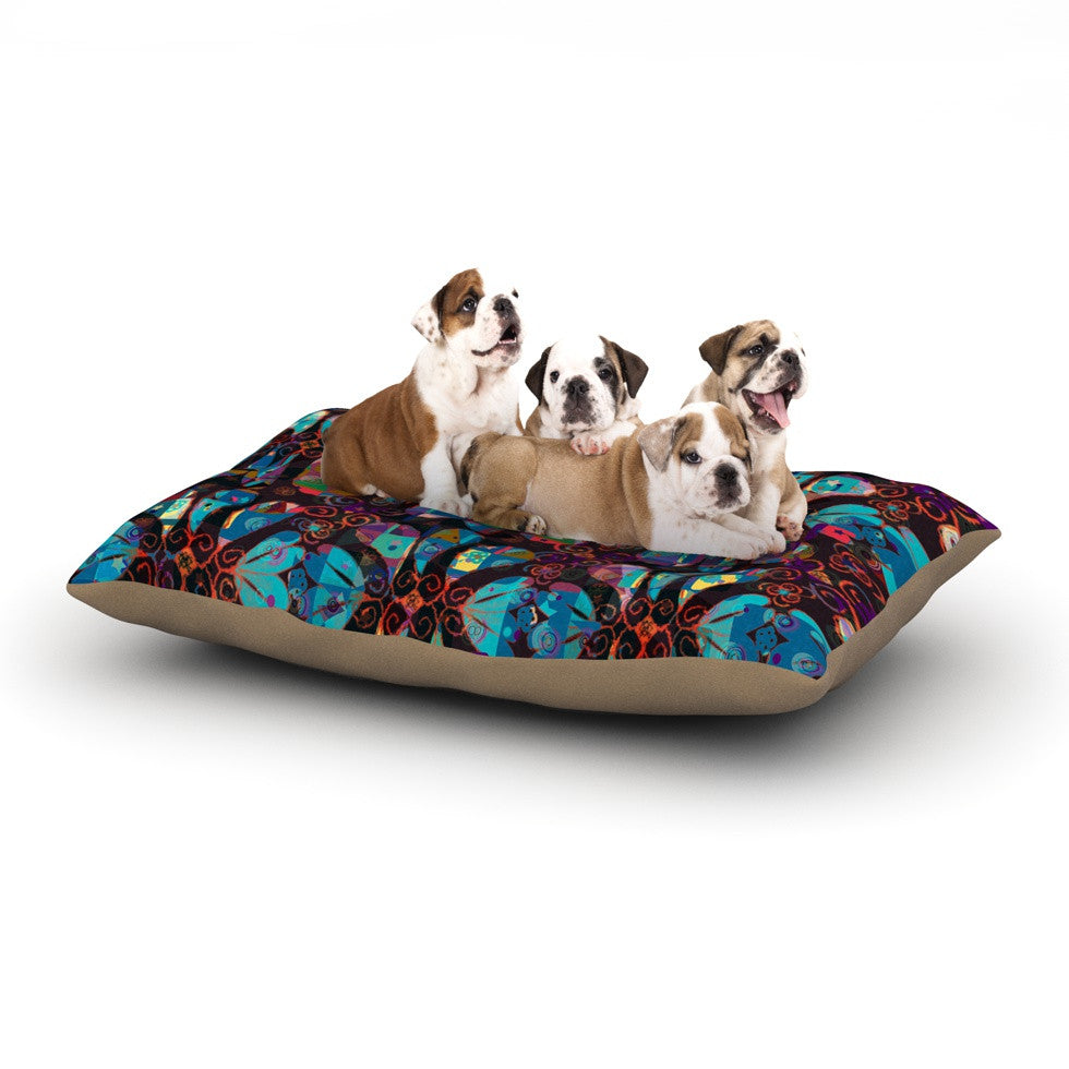 "Suzanne Carter ""Pattern"" Multicolor Abstract Dog Bed - KESS InHouse  - 1"