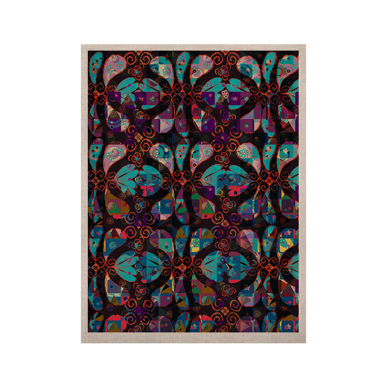"Suzanne Carter ""Pattern"" Multicolor Abstract KESS Naturals Canvas (Frame not Included) - KESS InHouse  - 1"