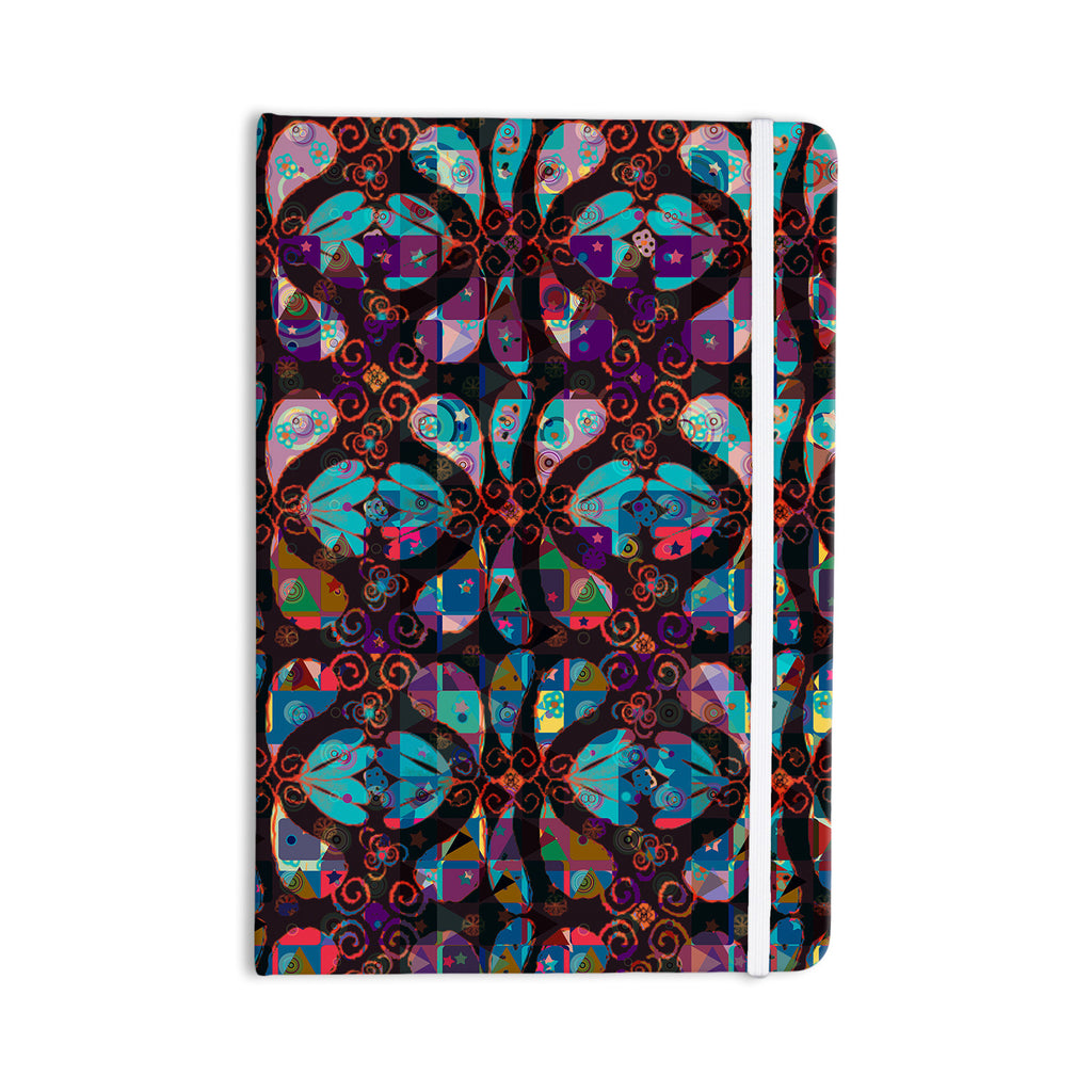 "Suzanne Carter ""Pattern"" Multicolor Abstract Everything Notebook - KESS InHouse  - 1"