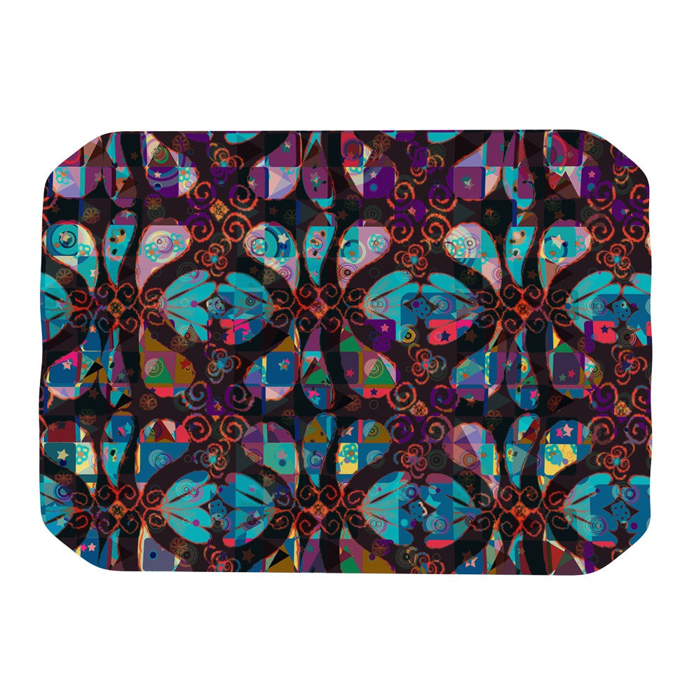 "Suzanne Carter ""Pattern"" Multicolor Abstract Place Mat - KESS InHouse"