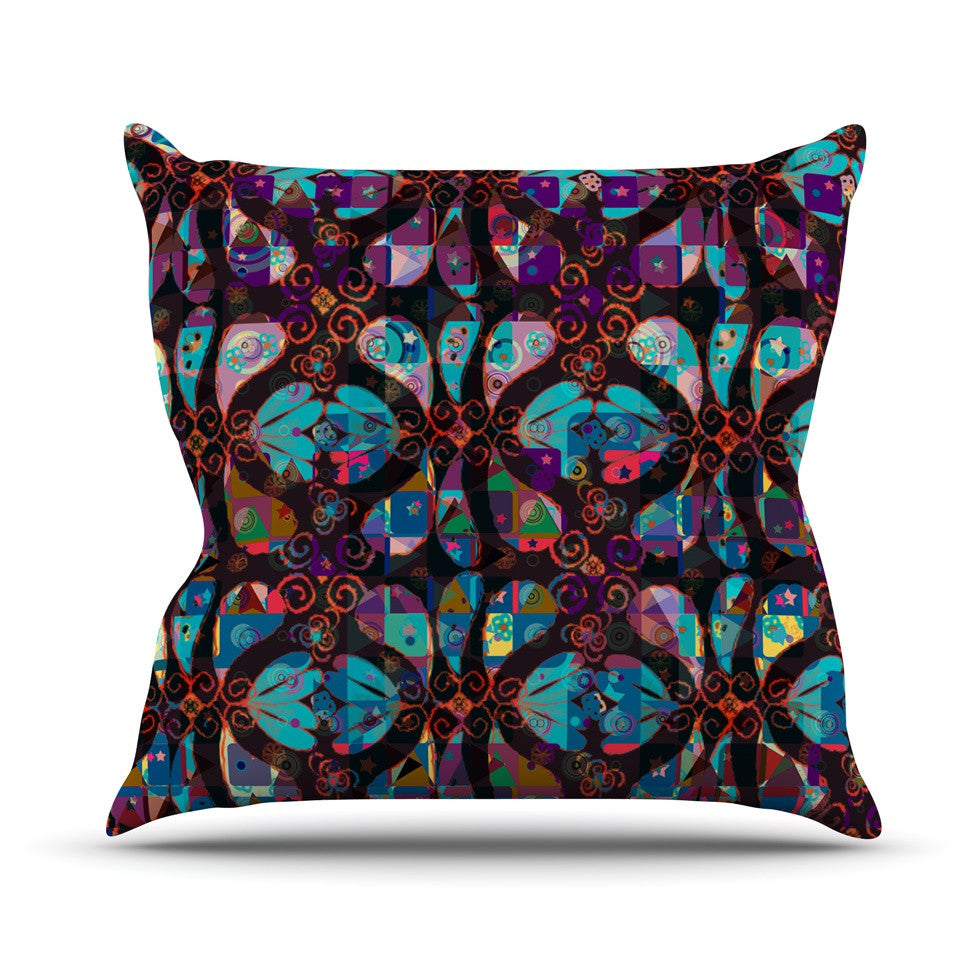 "Suzanne Carter ""Pattern"" Multicolor Abstract Outdoor Throw Pillow - KESS InHouse  - 1"