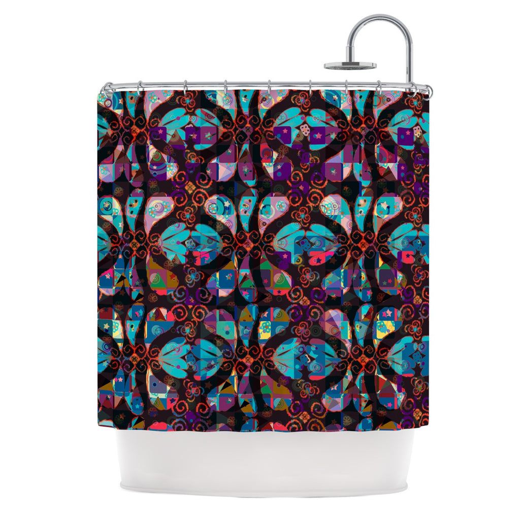 "Suzanne Carter ""Pattern"" Multicolor Abstract Shower Curtain - KESS InHouse"