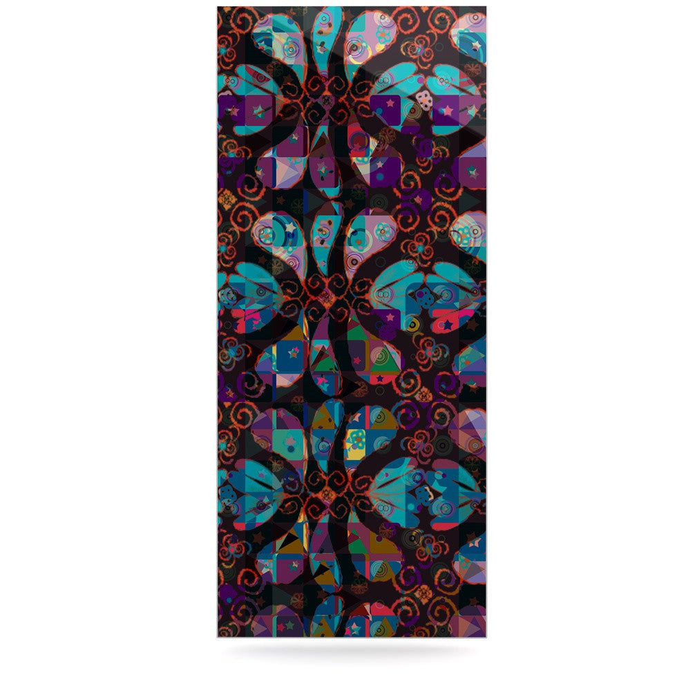 "Suzanne Carter ""Pattern"" Multicolor Abstract Luxe Rectangle Panel - KESS InHouse  - 1"