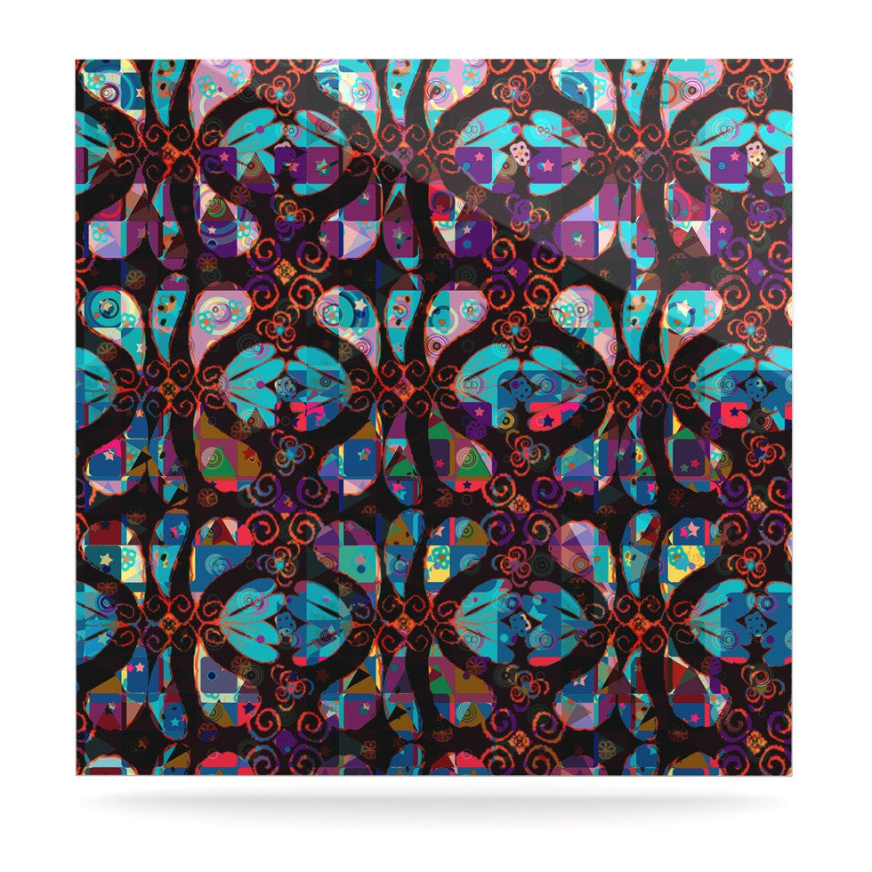 "Suzanne Carter ""Pattern"" Multicolor Abstract Luxe Square Panel - KESS InHouse  - 1"